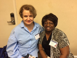 Mary E. with former student Mary Spivey