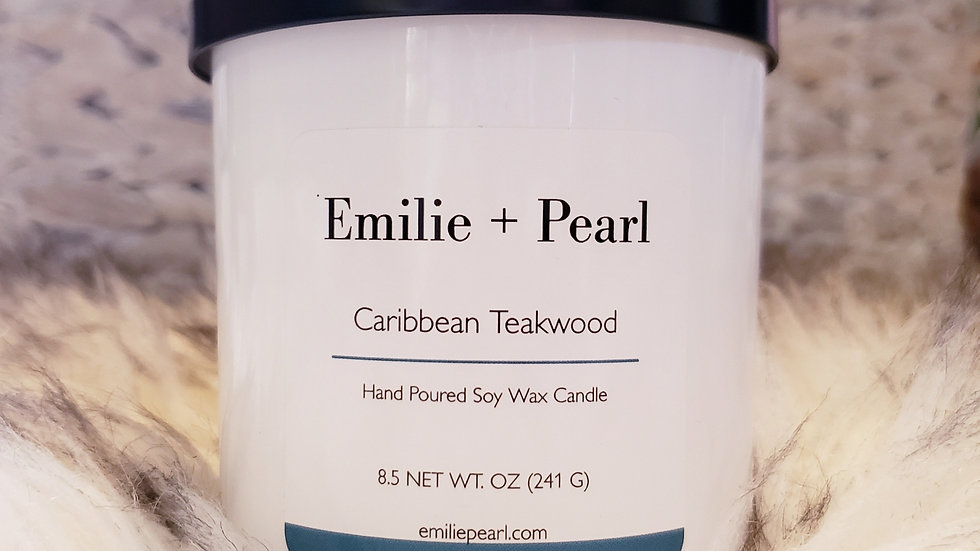 Caribbean Teakwood Scented Candle