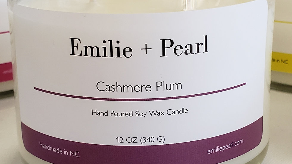 Double Wick Cashmere Plum Candle