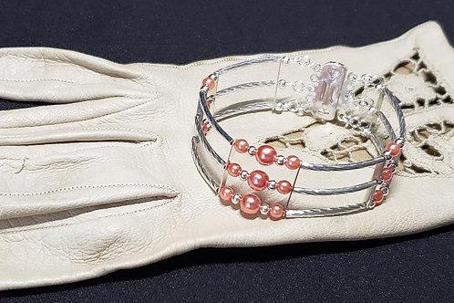 3 Strand Living Coral Bracelet
