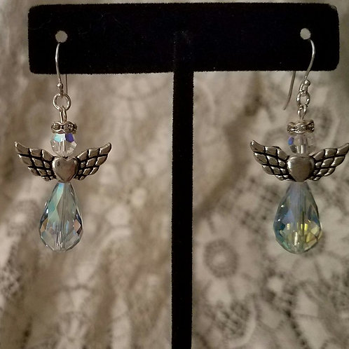 Czech Glass Angel Earrings