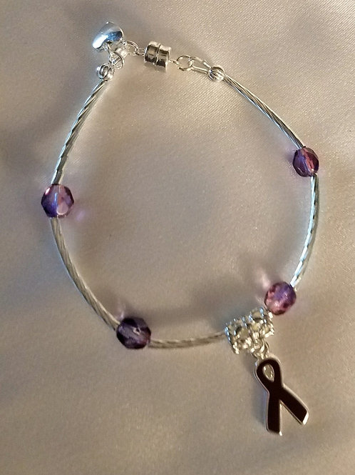 Lupus Awareness Ribbon Bracelet
