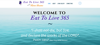 Screen shot of Eat To Live 365 Homepage