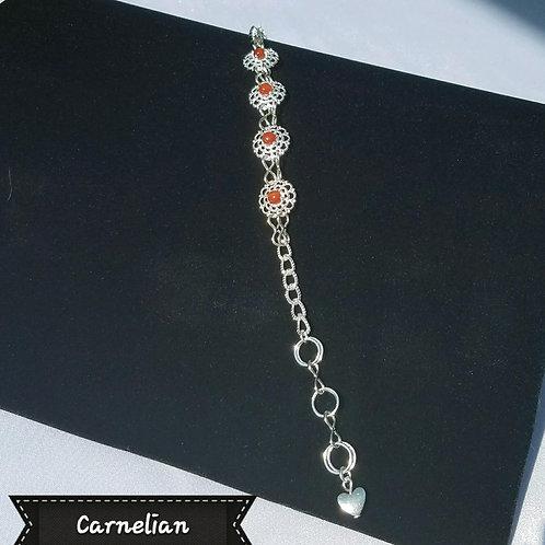 4-Cabochon Filigree Bracelet-4mm