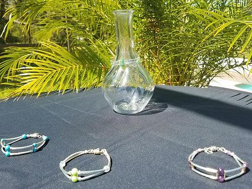 2 Strand Gemstone Bracelet (w/magnetic clasp)