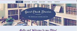 Screen shot of Guest Check Diaries homepage