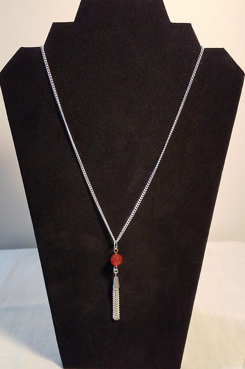Tassle & Gem Stone Necklace
