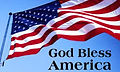 "American Flag and ""God Bless America"""