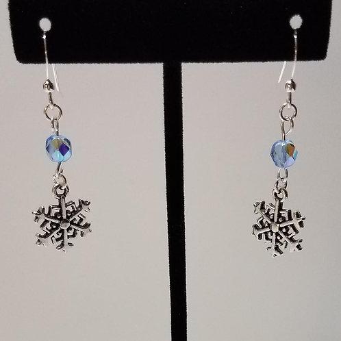 Snowflake w/Swarovski Crystal Earrings