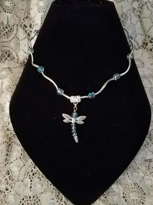 Dragonfly Czech Glass Bead Necklace