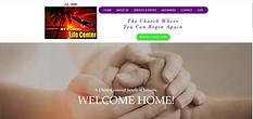Screen shot of New Beginnings Life Center homepage