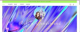 Screen shot of Abby's Wonderland homepage