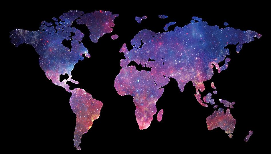 World Map Galaxy Stars