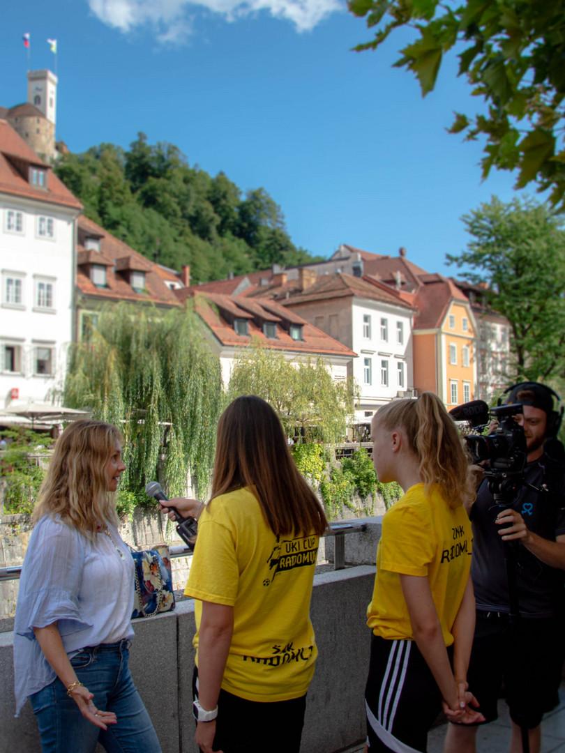 Interview in Ljubljana, Slovenia