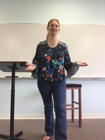 Teaching in a classroom