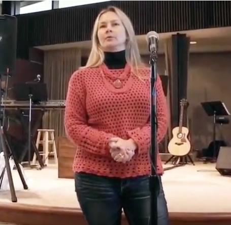 Sharing a testimony at Malibu Presbyterian Church