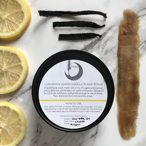 Luxurious Lemon-Vanilla  Sugar Scrub