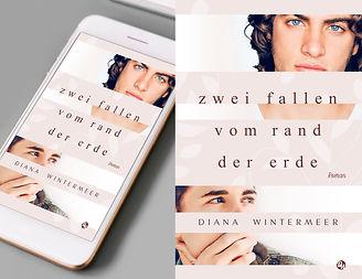 Mockup iphone weiss + ebook coverrechts