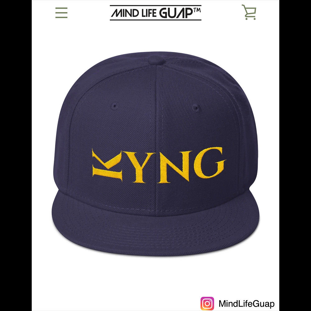 """The Blue"" - The Royalty Series Kyng Regal Snapback is available now in many colors at www.iamkvictoria.com/mind-life-guap"