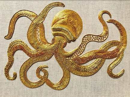 Darwin's Octopus | Goldwork