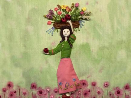 Award Winning 'The Flower Girl' | Stumpwork