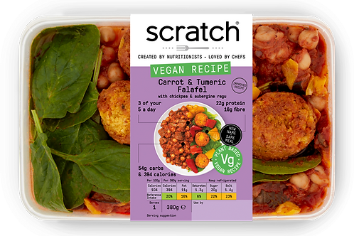 Chickpea Ragu with Turmeric Falafel | Scratch Ready Meals