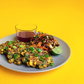BUFFALO WORM & SWEETCORN FRITTERS