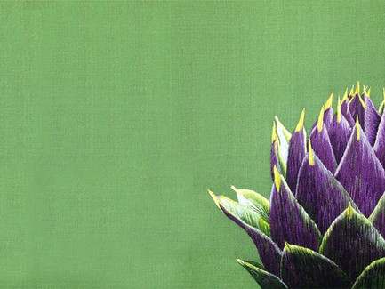 Purple Artichoke | Silk Shading