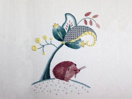 Highland Hedgehog  | Jacobean Crewelwork
