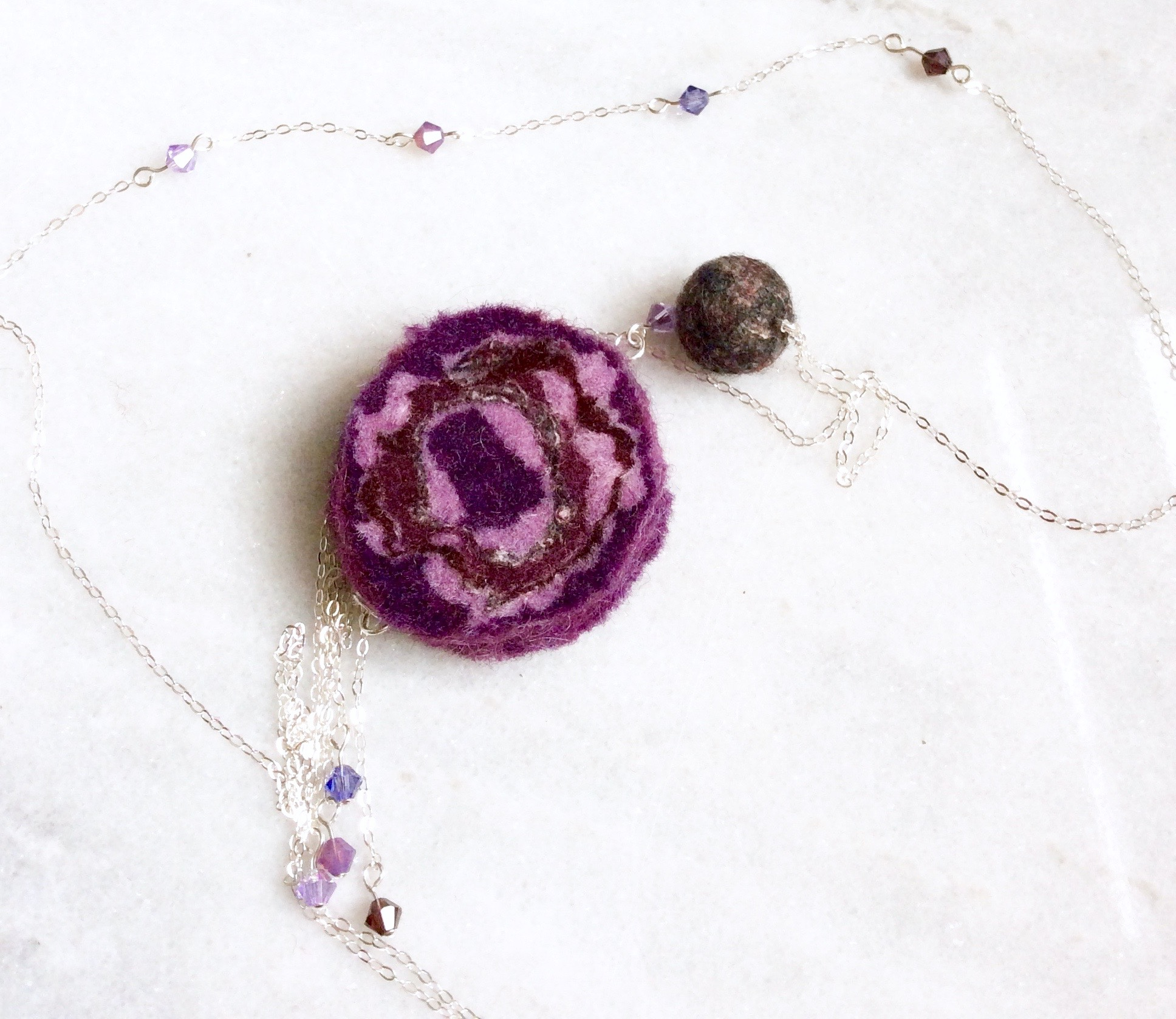 All Purples 30 in Necklace