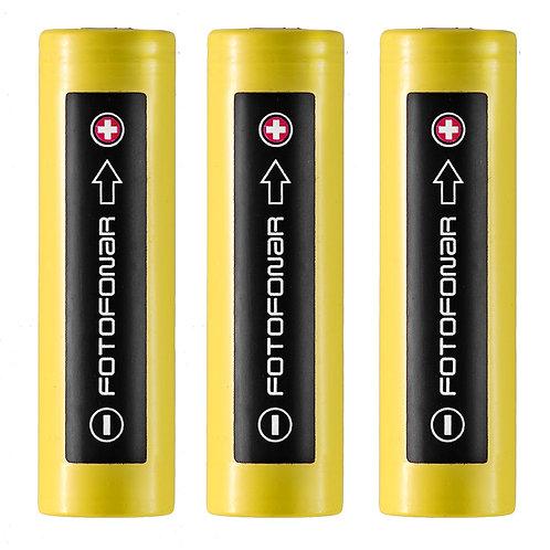 Аккумуляторные батареи 18650,  LG 2500 мАч (3 шт.)