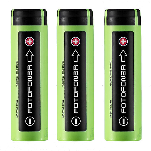 Аккумуляторные батареи 18650,  Panasonic 3400 мАч (3 шт.)