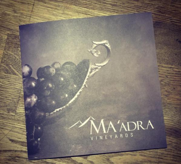 Ma'adra Vineyards Brochure Design