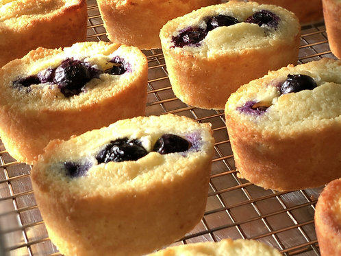 Gluten Free Blueberry-Lemon Friands