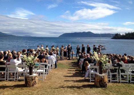Shoreside ceremony
