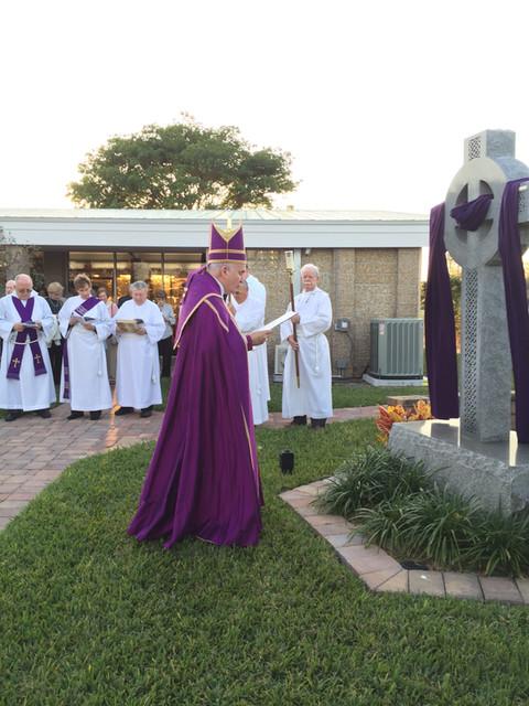 Bishop Brewer Dedicating Celtic Cross