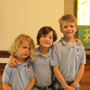 Ellis, Case and Jet in their St. David's shirts!