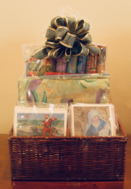 Jeanne's Christmas Paper Basket. (#11). Min Bid: $75.  Buy It Now: $100.