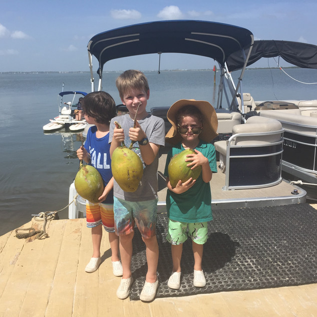 Boating and Coconuts for Jet, Case & Ellis