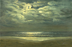 Summer's Full Moon Over Cocoa Beach