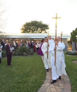 Dedication of the Celtic Cross and Reconstructed Church 2016
