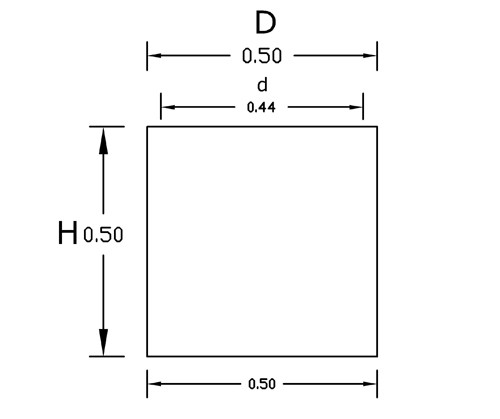 Dimensiones Cubo 50