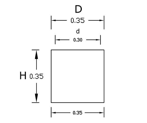 Dimensiones Cubo 35