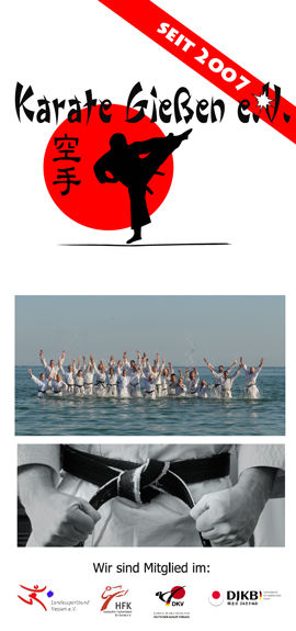 Karate Gießen Info Flyer