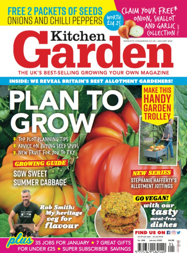 Three Fruity Ladies appear in the January edition of Kitchen Garden magazine