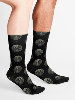 """Voodoo moon"" socks"