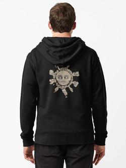 """""""Toast to life"""" Zipped hoodie"""