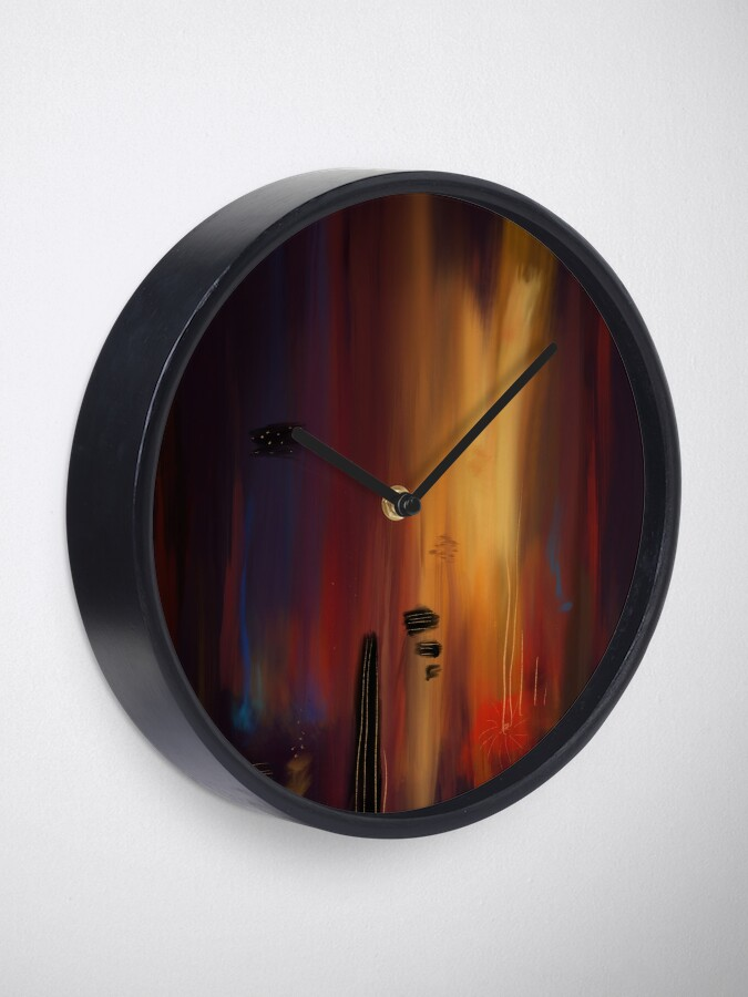 """""""Abstract lullaby"""" Clock"""