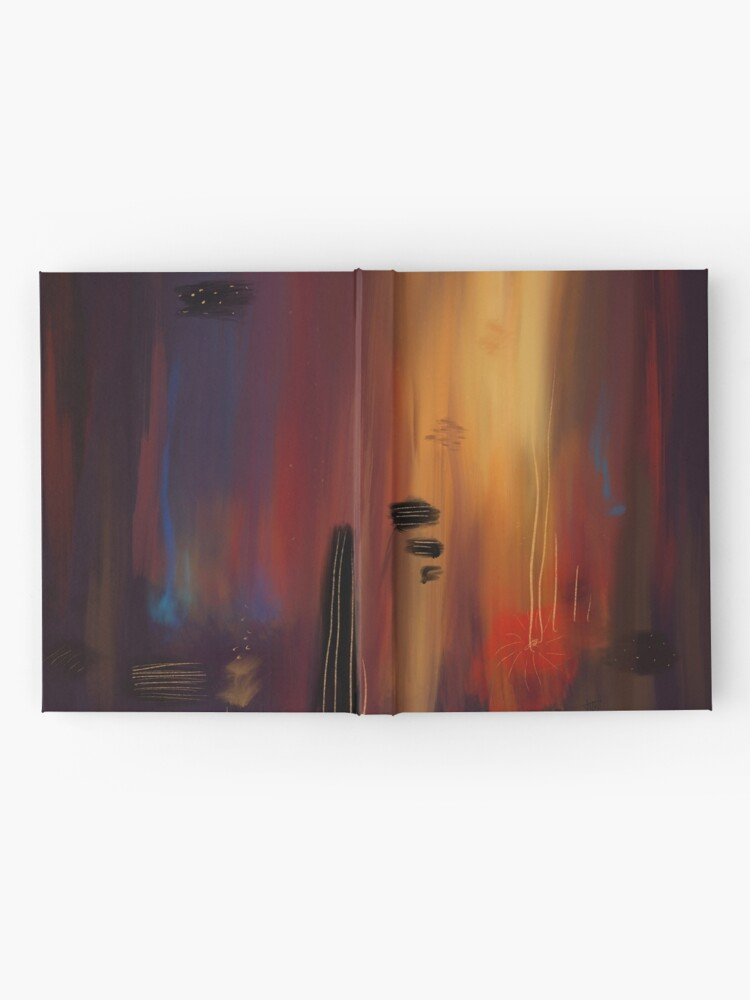 """""""Abstract lullaby"""" Hardcover Journal"""