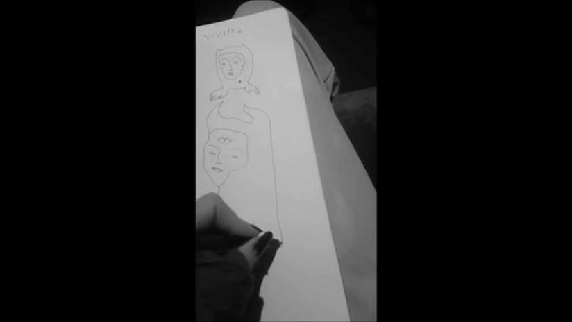 Left hand drawing - After car crash
